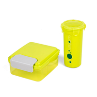 Portable BPA Free Bento Box with Water Bottle, Push Switch