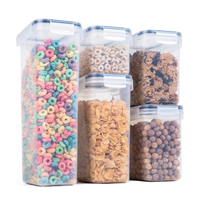 Kitchen Plastic Cereal Dry Food Storage Container Set