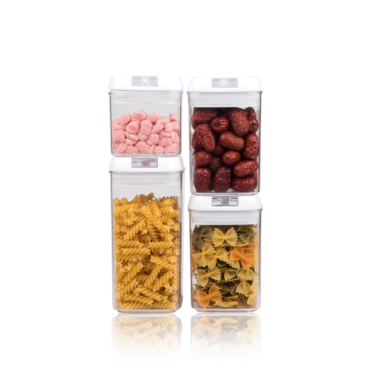 4 PCS Dry Food Storage Container