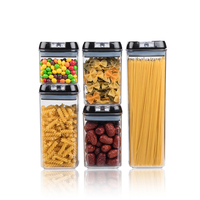 5 Pcs Airtight Food Container Storage Organizer
