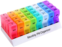 Monthly Big Capacity 31 Days Pill Case Storage Container
