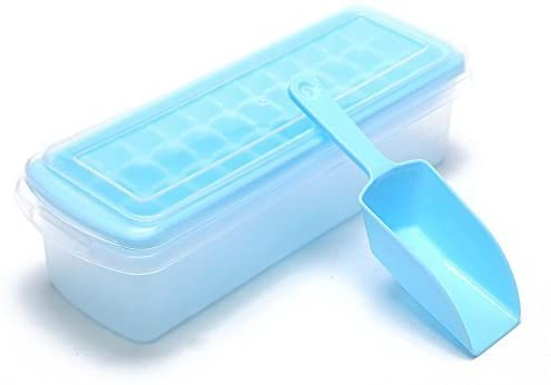 Plastic Easy Release Ice Cube Trays with Lids