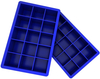 15 Colorful Silicone Ice Cube Tray